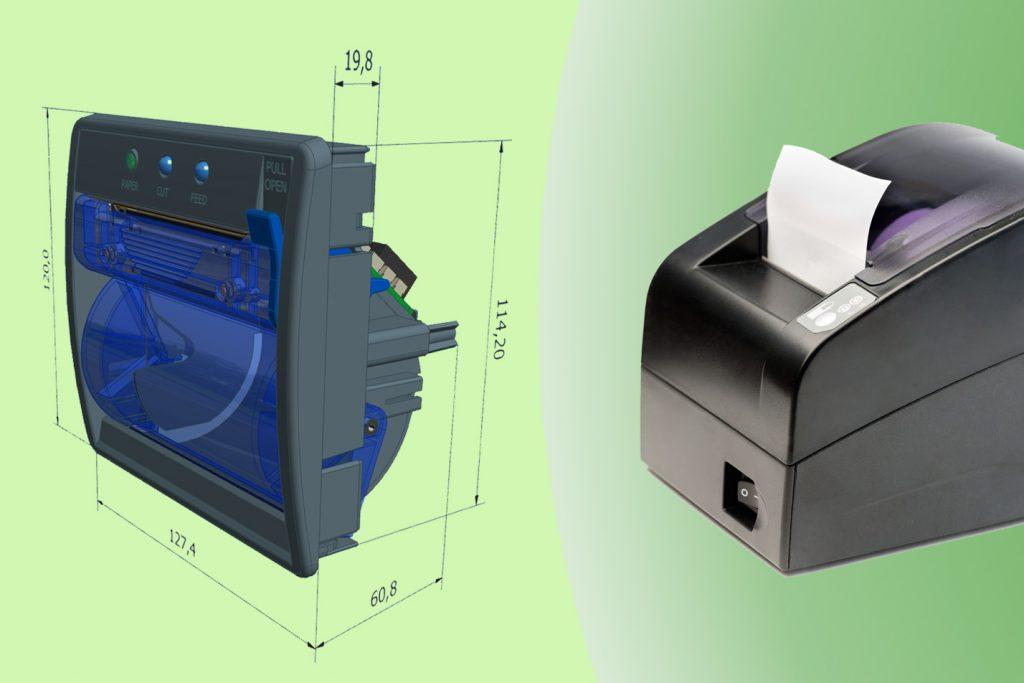 KFI custom printer versus standard thermal printer